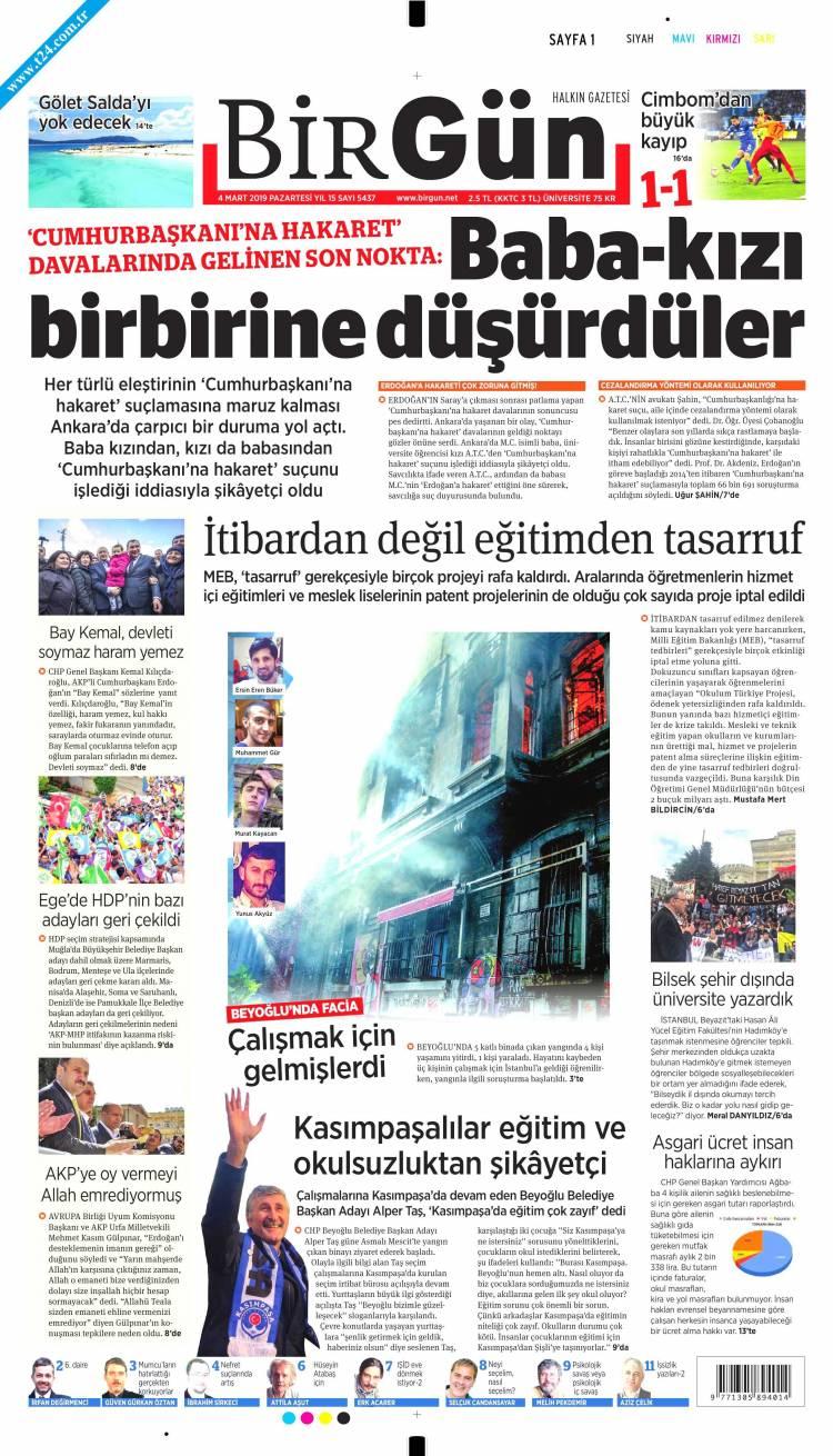 Günün Ulusal Gazete Manşetleri 04 03 2019 Foto Galerisi 3 Resim