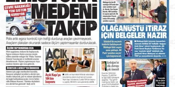 Günün Ulusal Gazete Manşetleri - 15 04 2019