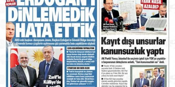 Günün Ulusal Gazete Manşetleri - 18 04 2019