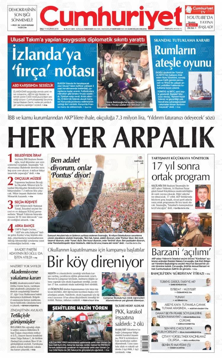 Günün Ulusal Gazete Manşetleri - 11 06 2019 4