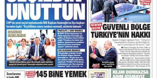 Günün Ulusal Gazete Manşetleri - 28 08 2019