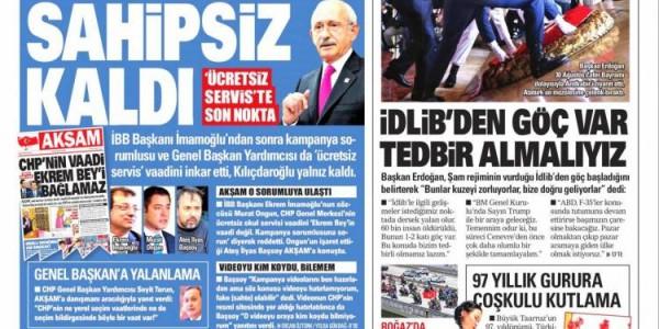 Günün Ulusal Gazete Manşetleri - 31 08 2019