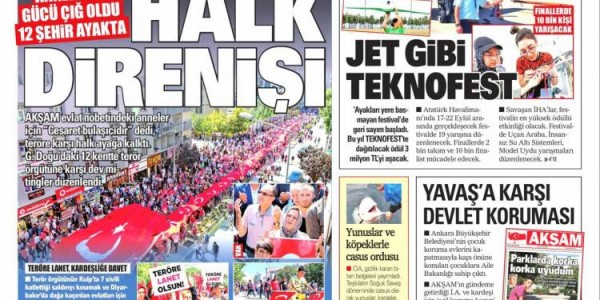 Günün Ulusal Gazete Manşetleri - 15 09 2019
