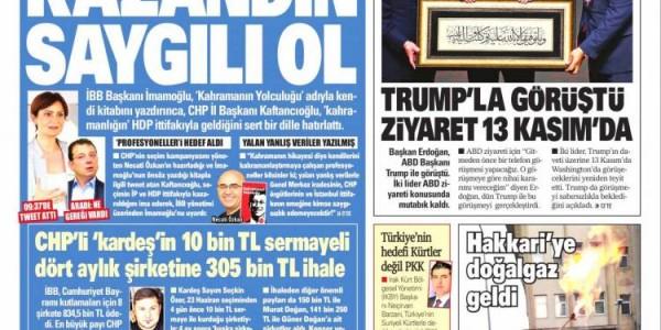 Günün Ulusal Gazete Manşetleri - 07 11 2019