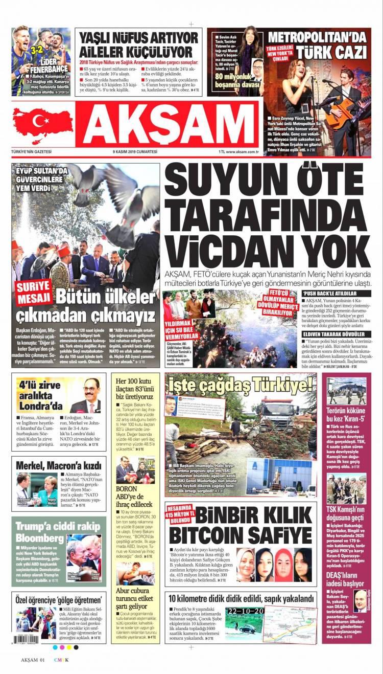 Günün Ulusal Gazete Manşetleri - 09 11 2019 1