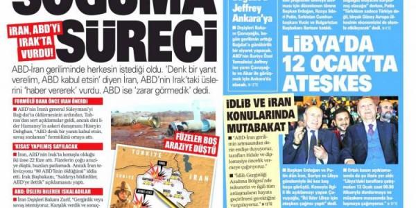 Günün Ulusal Gazete Manşetleri - 09 01 2020