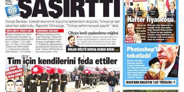 Günün Ulusal Gazete Manşetleri - 10 01 2020