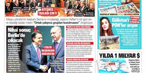 Günün Ulusal Gazete Manşetleri - 14 01 2020