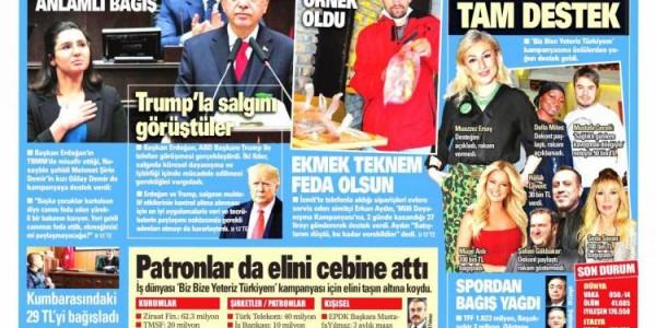 Günün Ulusal Gazete Manşetleri - 01 04 2020