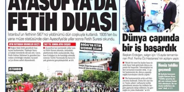 Günün Ulusal Gazete Manşetleri - 30 05 2020