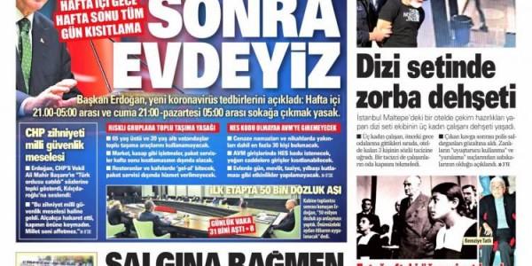 Günün Ulusal Gazete Manşetleri - 01 12 2020