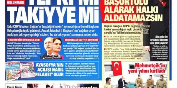 Günün Ulusal Gazete Manşetleri - 02 01 2021