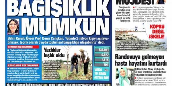 Günün Ulusal Gazete Manşetleri - 04 01 2021
