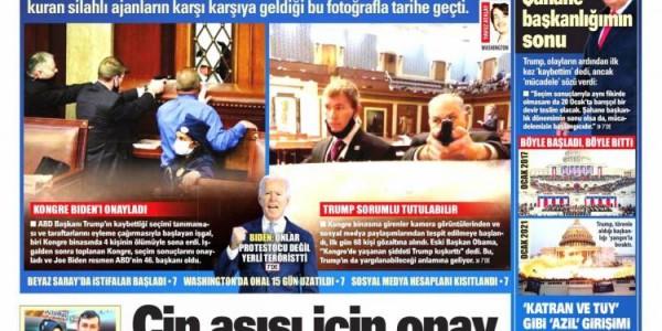 Günün Ulusal Gazete Manşetleri - 08 01 2021
