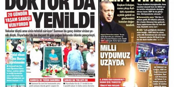 Günün Ulusal Gazete Manşetleri - 09 01 2021