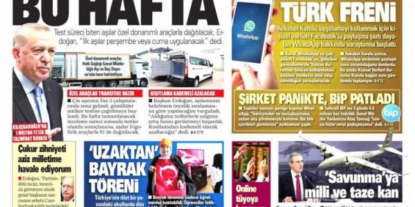 Günün Ulusal Gazete Manşetleri - 12 01 2021