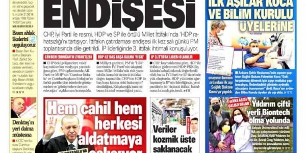 Günün Ulusal Gazete Manşetleri - 14 01 2021