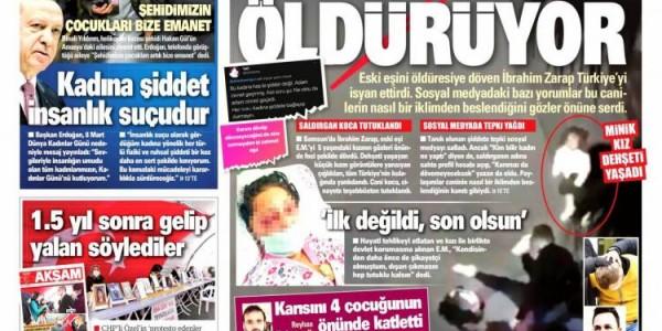 Günün Ulusal Gazete Manşetleri - 08 03 2021