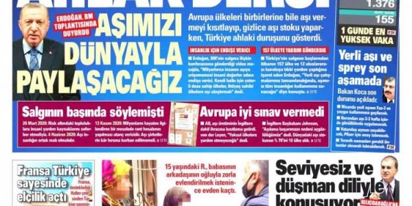 Günün Ulusal Gazete Manşetleri - 31 03 2021