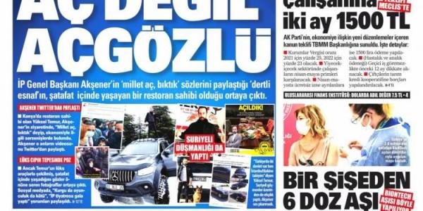 Günün Ulusal Gazete Manşetleri - 03 04 2021
