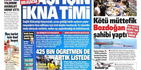 Günün Ulusal Gazete Manşetleri - 15 04 2021