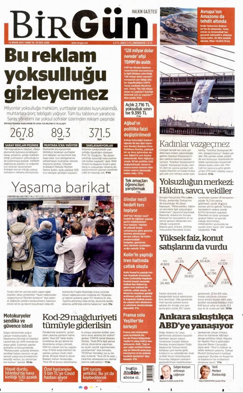 Günün Ulusal Gazete Manşetleri - 16 04 2021 3