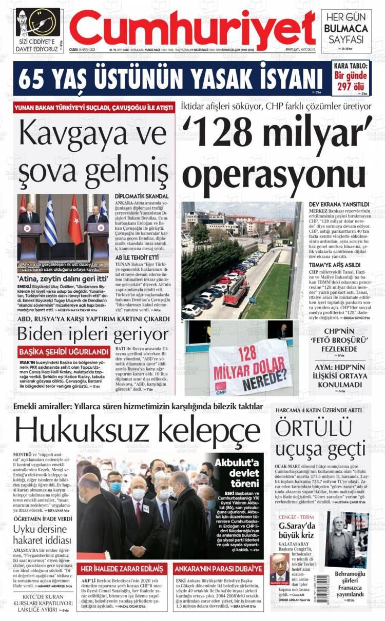 Günün Ulusal Gazete Manşetleri - 16 04 2021 4