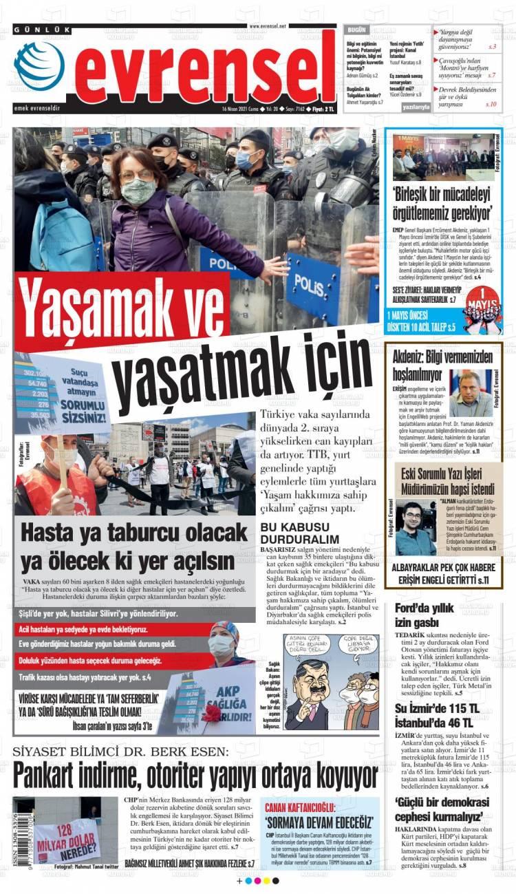 Günün Ulusal Gazete Manşetleri - 16 04 2021 6