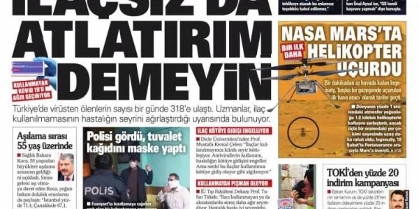 Günün Ulusal Gazete Manşetleri - 20 04 2021