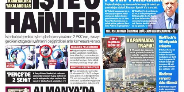 Günün Ulusal Gazete Manşetleri - 01 05 2021