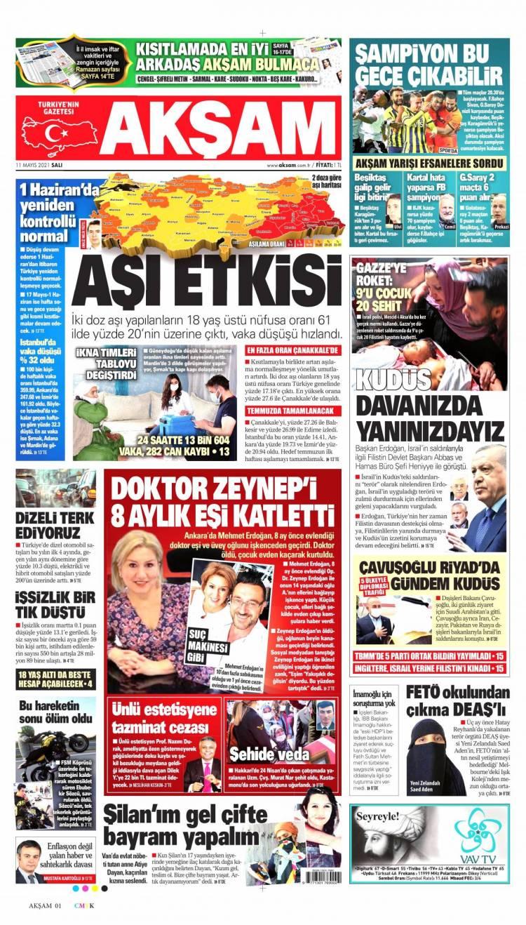 Günün Ulusal Gazete Manşetleri - 11 05 2021 1
