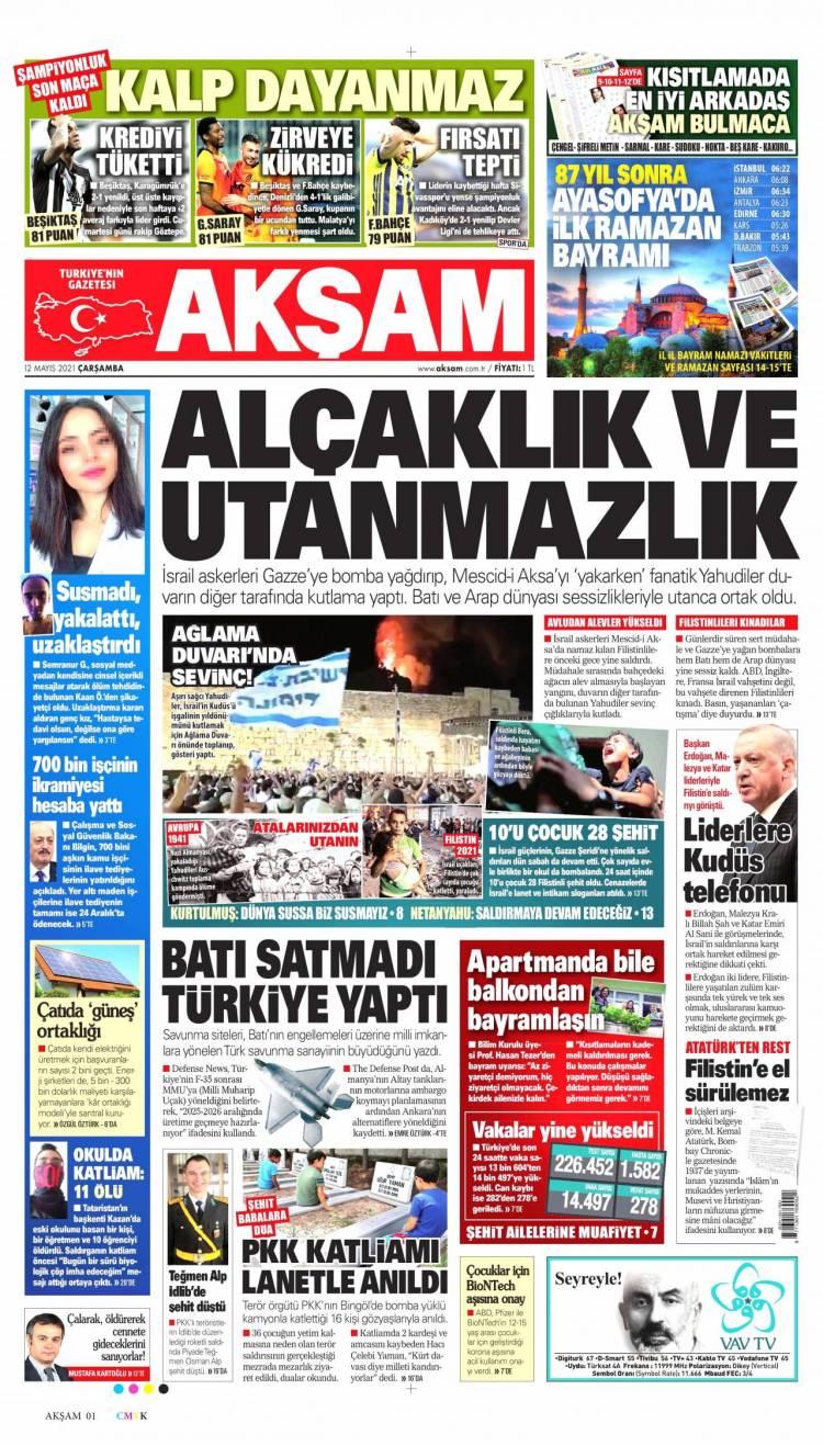 Günün Ulusal Gazete Manşetleri - 12 05 2021 1