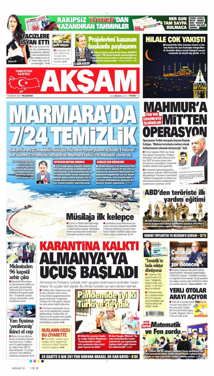Günün Ulusal Gazete Manşetleri - 07 06 2021 1