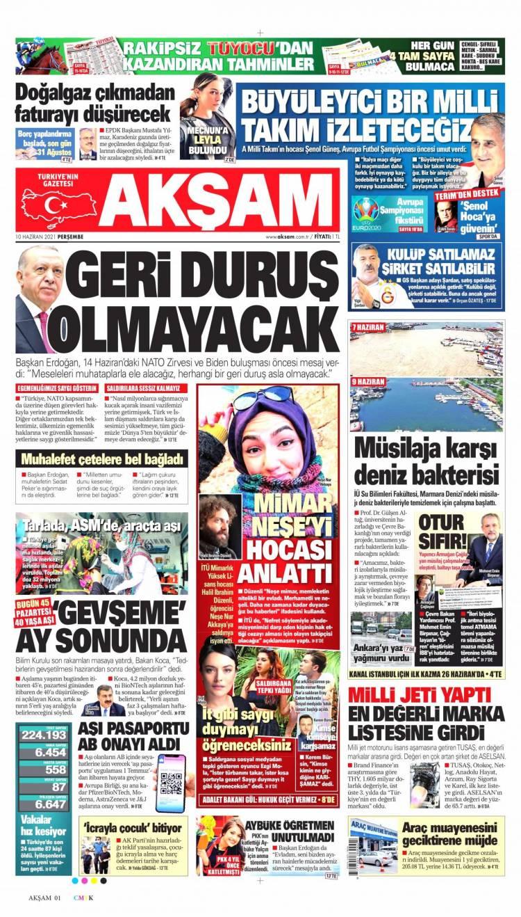 Günün Ulusal Gazete Manşetleri - 10 06 2021 1