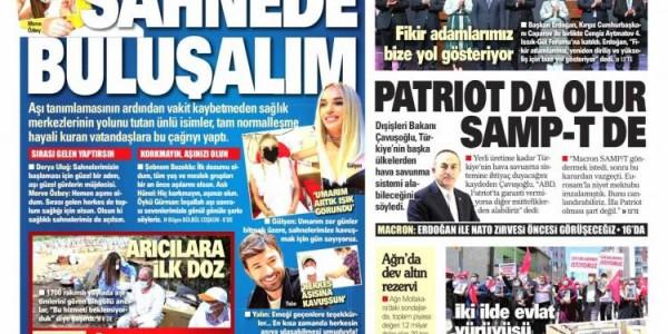 Günün Ulusal Gazete Manşetleri - 11 06 2021