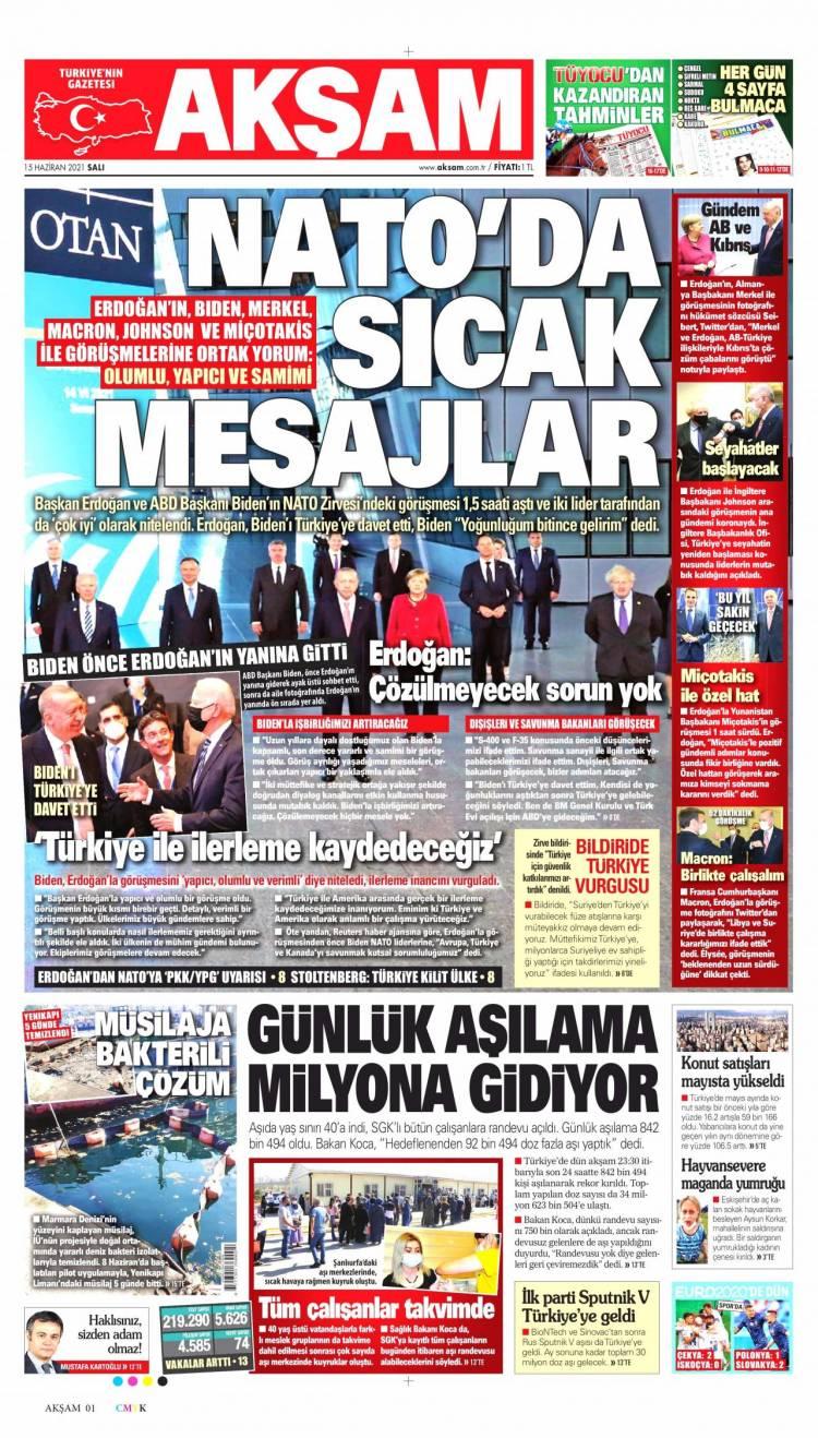 Günün Ulusal Gazete Manşetleri - 15 06 2021 1