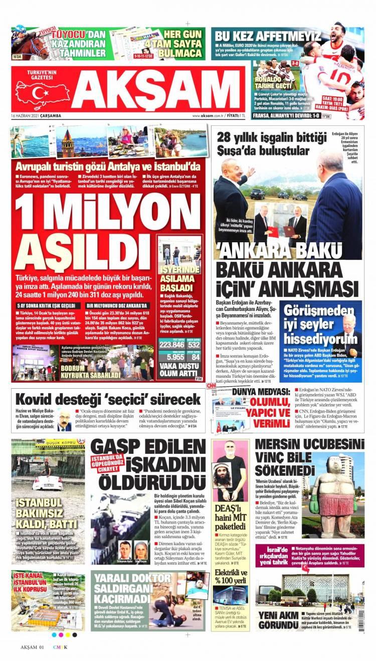 Günün Ulusal Gazete Manşetleri - 16 06 2021 1