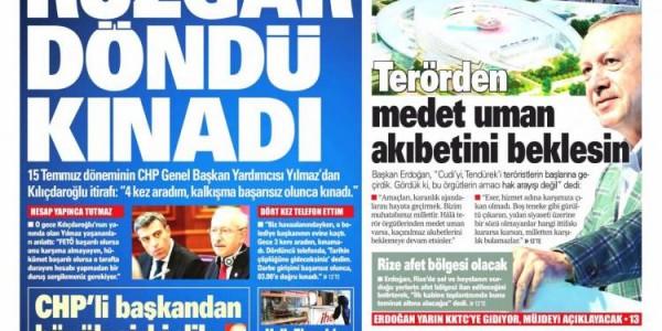 Günün Ulusal Gazete Manşetleri - 18 07 2021