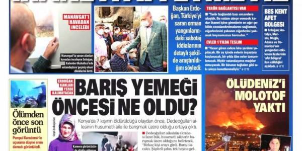 Günün Ulusal Gazete Manşetleri - 01 08 2021