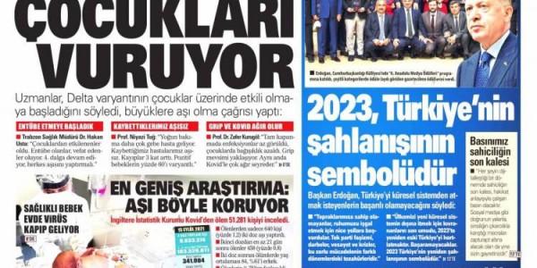 Günün Ulusal Gazete Manşetleri - 16 09 2021