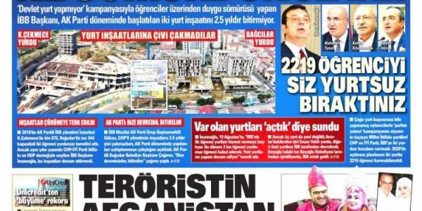 Günün Ulusal Gazete Manşetleri - 30 09 2021