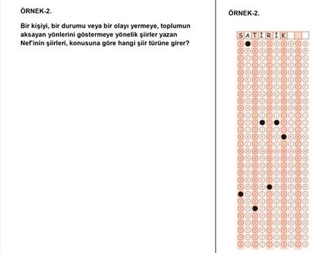 LYS kısa cevaplı soru örnekleri 5