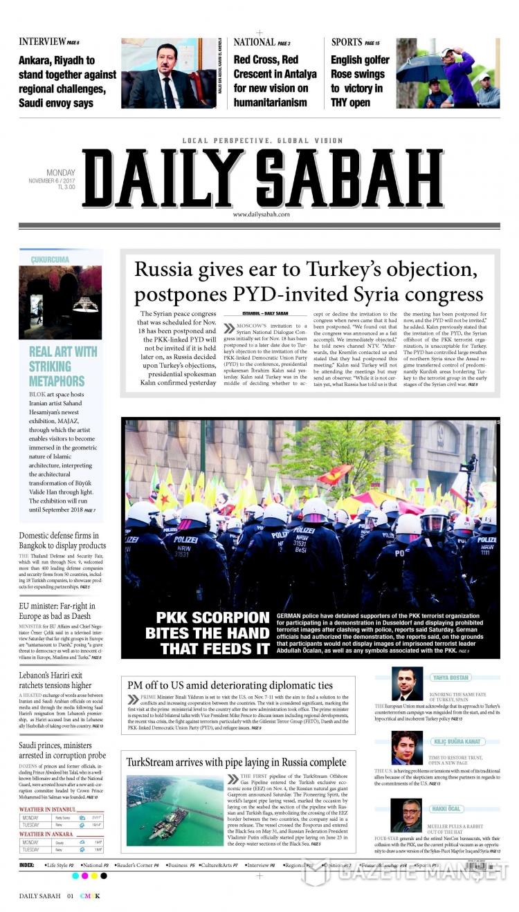Günün Ulusal Gazete Manşetleri - 06 11 2017 5