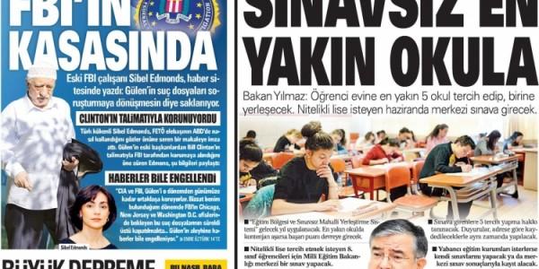 Günün Ulusal Gazete Manşetleri - 06 11 2017