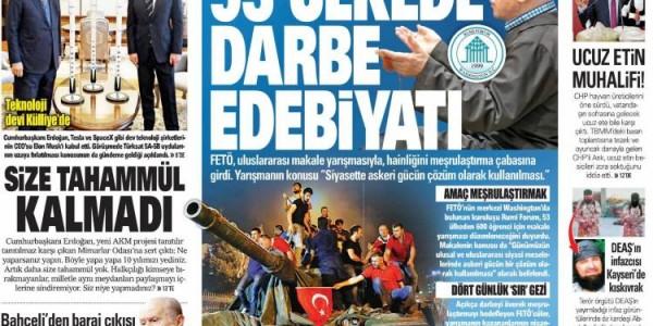Günün Ulusal Gazete Manşetleri - 09 11 2017
