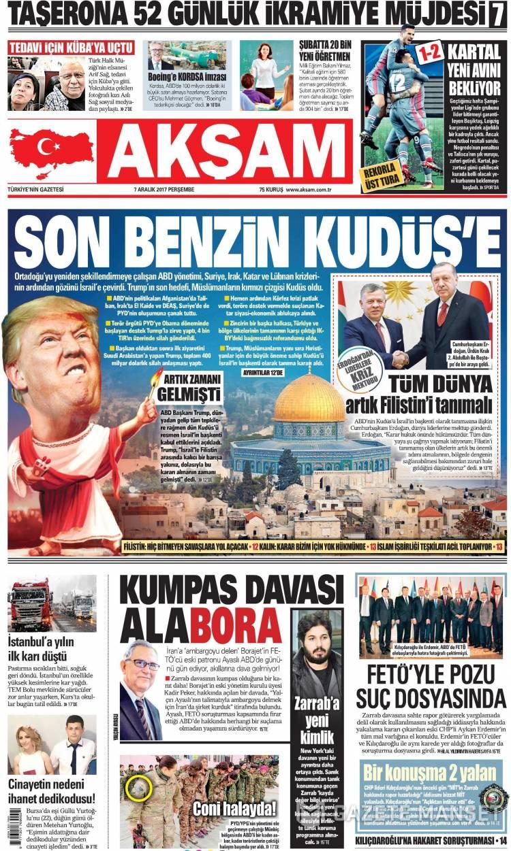 Günün Ulusal Gazete Manşetleri - 07 12 2017 1