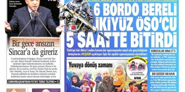 Günün Ulusal Gazete Manşetleri - 20 03 2018