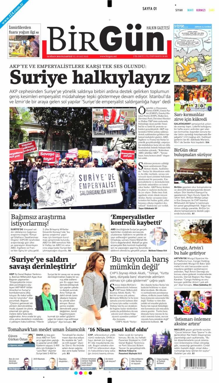 Günün Ulusal Gazete Manşetleri - 16 04 2018 3