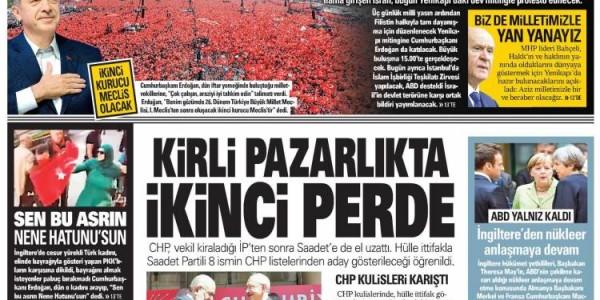 Günün Ulusal Gazete Manşetleri - 19 05 2018