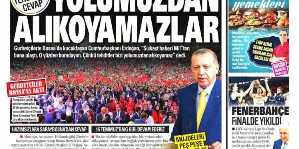Günün Ulusal Gazete Manşetleri - 21 05 2018